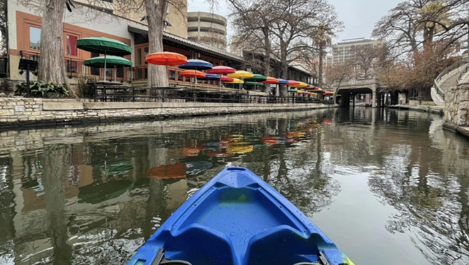 Local adventure outfit Mission Kayak now offers excursions along the business district of the San Antonio River Walk all year long, - FACEBOOK / MISSION KAYAK