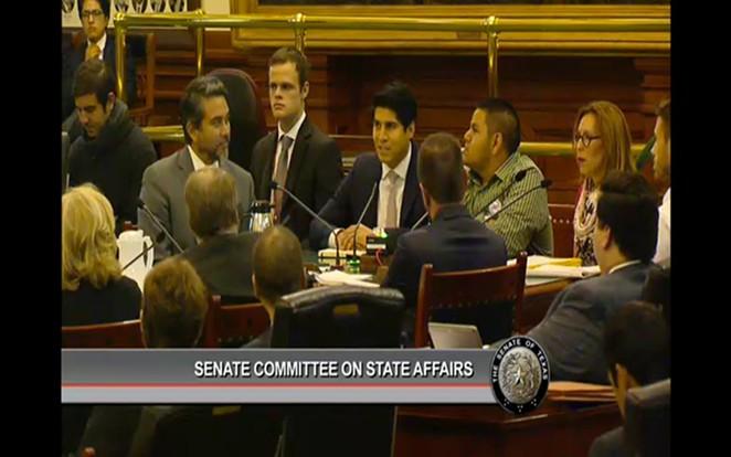 SA City Council members Roberto Trevino, Rey Saldana and Shirley Gonzales testify against SB4 Thursday - FACEBOOK.COM/SHIRLEY.GONZALES