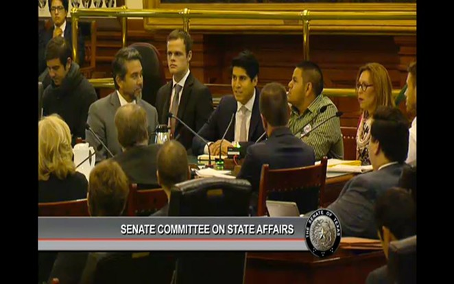 SA City Council members Roberto Trevino, Rey Saldana and Shirley Gonzales testify against SB4 Thursday - FACEBOOK.COM/SHIRLEY.GONZALES