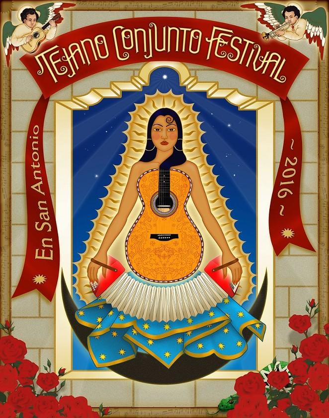 2016 TEJANO CONJUNTO FESTIVAL POSTER//DESIGN BY THERESE SPINA