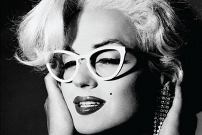 PHOTO OF JIMMY JAMES AS MARILYN MONROE (DETAIL) FROM A 1991 L.A. EYEWORKS ADVERTISING CAMPAIGN.
