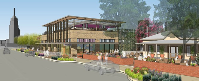 A rendering of the new Rosario's at 722 S. St. Mary's St. - COURTESY IMAGE / DOUGLAS ARCHITECTS