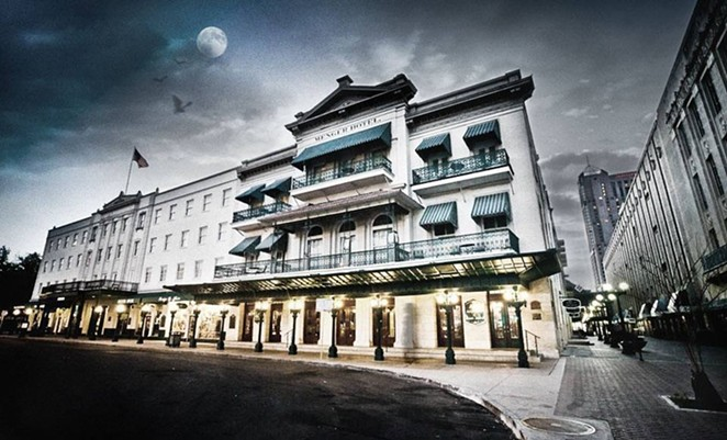 What has been around longer: Menger Hotel or San Antonio's lawsuit against online travel companies over hotel occupancy taxes? - COURTESY OF MENGER HOTEL