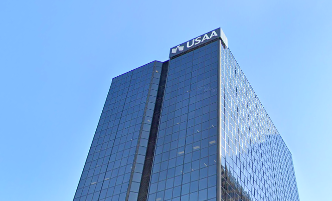 The city cut a deal with USAA in December 2017 to put new jobs downtown. - GOOGLE STREET VIEW