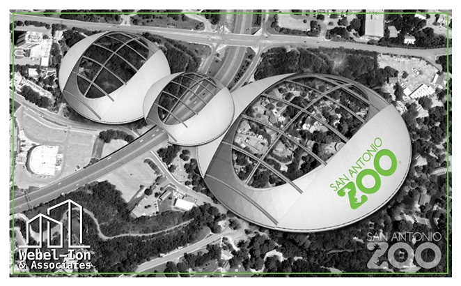 A mock rendering of the zoo's faux bio-dome plan. - COURTESY OF THE SAN ANTONIO ZOO