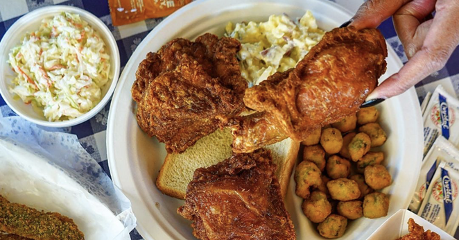 """Tennessee-based Gus's Fried Chicken is bringing its """"world famous"""" fried yardbird to the Alamo City. - INSTAGRAM /  PHILEATS_"""