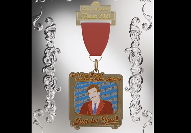 SA Flavor is auctioning off a one-of-a-kind NFT Fiesta medal. - SCREENSHOT / RARIBLE, SA FLAVOR