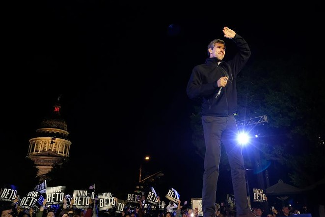 Beto O'Rourke recently organized a block walking event in the political battleground of South Texas as people wonder if he'll run for governor in 2022. - LAURA SKELDING / THE TEXAS TRIBUNE
