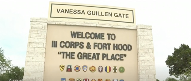 Army base Fort Hood Monday unveiled a memorial for slain soldier Vanessa Guillén. - SCREEN CAPTURE / YOUTUBE KPRC 2