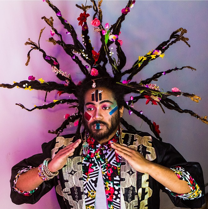 The program includes the world premiere of ((HERE)), a new, multidimensional work by Darian Donovan Thomas (pictured). - DARIAN DONOVAN THOMAS
