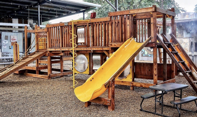 The Cove has reinstalled its play structure, which was removed due to the pandemic. - FACEBOOK / THE COVE