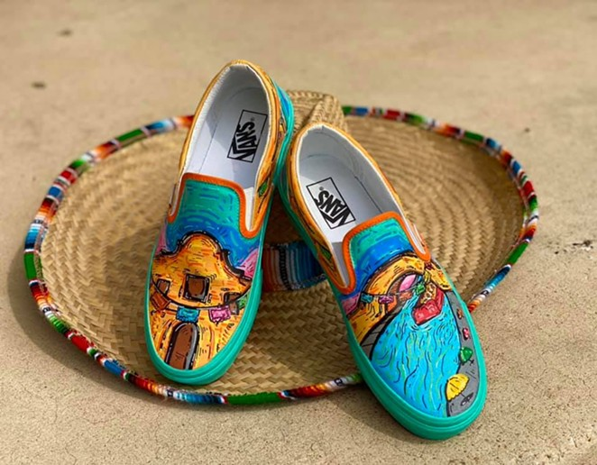 Roger Zamarripa Jr. created a puro set of Vans shoes for the company's Custom Culture contest. - FACEBOOK / ROGER ZAMARRIPA JR.