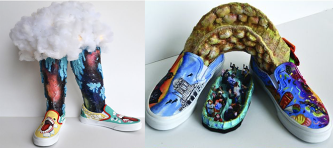 East Central High School's submissions for the Vans Custom Culture contest. - COURTESY IMAGE / VANS