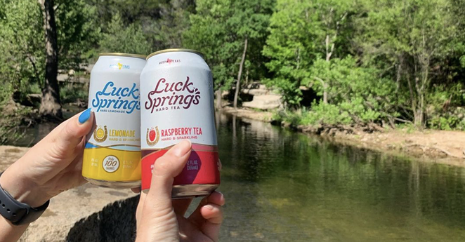 Luck Springs, a new hard lemonade and tea concept from the team behind AustinEastciders, launched this week. - INSTAGRAM / LUCKSPRINGS
