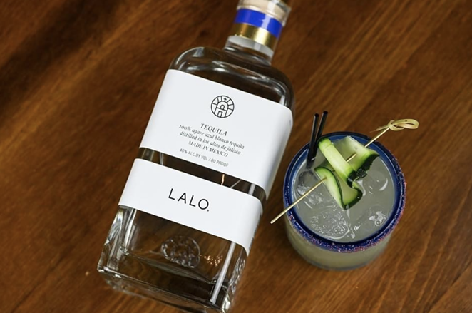 The Veracruz cocktail is made withLALO blanco tequila, muddled cucumber, mint, lime, Squirt soda and a grapefruit-habanero salt rim. - PHOTO COURTESY OF LALO TEQUILA