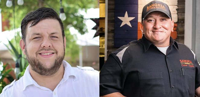 Chefs PJ Edwards and Ceasar Zepeda will team up for a special collaborative dinner May 18. - FACEBOOK / MEADOW NEIGHBORHOOD EATERY / SANGRIA ON THE BURG