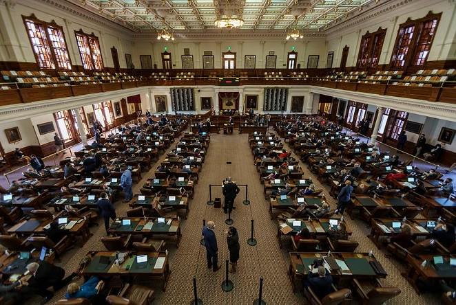 The Texas House of Representatives on January 13. - TEXAS TRIBUNE / JORDAN VONDERHAAR