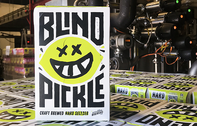 Blind Pickle Hard Seltzer is one of three special flavors in Deep Ellum's 2021 lineup of limited edition hard seltzers. - PHOTO COURTESY OF DEEP ELLUM BREWING