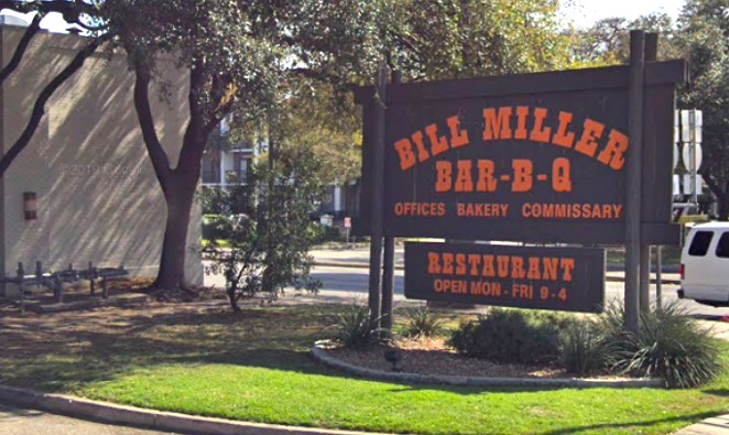 Bill Miller Bar-B-Q has operated its headquarters out of the same downtown location since 1971. - GOOGLE STREET VIEW