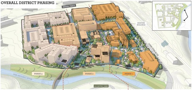 The Lone Star redevelopment is shown in phases. Courtesy Midway and GrayStreet Partners