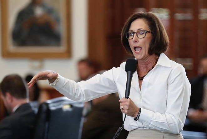 State Sen. Lois Kolkhorst, R-Brenham, during the 2017 Texas Senate debate over her unsuccessful bill that would have mandated which public bathrooms transgender Texans use.