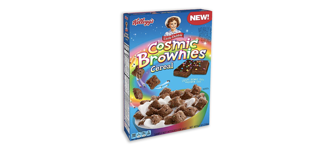Little Debbie Cosmic Brownies Cereal is now a real thing. - PHOTO COURTESY KELLOGG'S