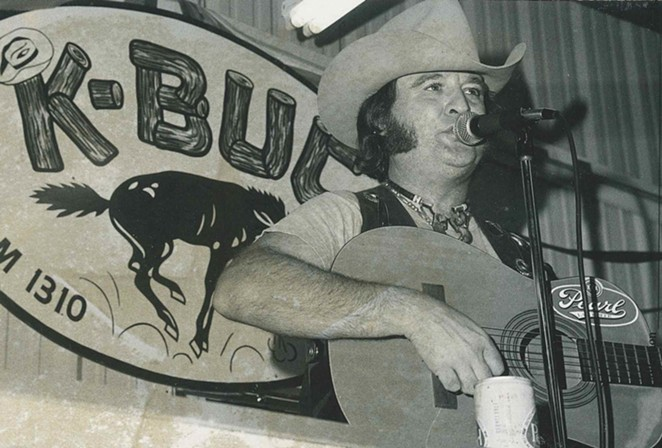"""Willie Nelson's cover of San Antonio singer Johnny Bush's """"Whiskey River"""" helped make it the """"anthem of Texas country."""" - SAM KINDRICK COLLECTION, THE WITTLIFF COLLECTIONS"""