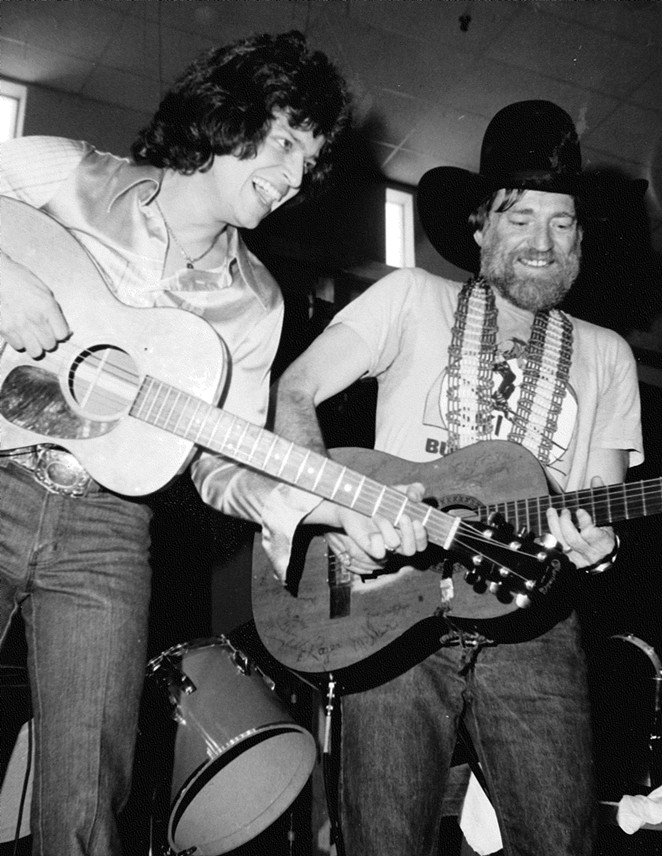 Johnny Rodriguez (left) and Willie Nelson perform together. - SAM KINDRICK COLLECTION, THE WITTLIFF COLLECTIONS