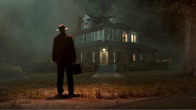 """The lights are on, but nobody's home in the eighth film in the """"Conjuring"""" universe, which tries mightily to mine inspiration from """"The Exorcist,"""" as evidenced by this familiar image. - WARNER BROS. PICTURES"""