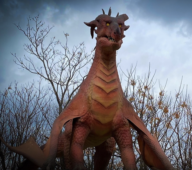 The zoo discounted admission to Dragon Forest through June 14. - FACEBOOK / SAN ANTONIO ZOO