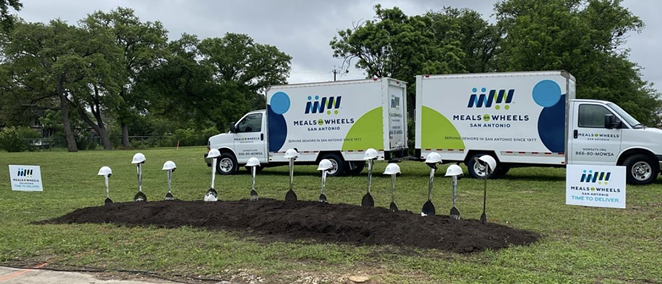 LPA Design Studios shared images of the groundbreaking event for the new Meals on Wheels San Antonio facility. - INSTAGRAM / LPAINC