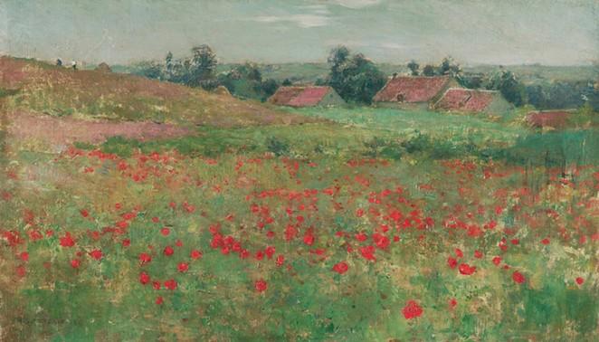 Willard Metcalf's Poppy Field (Landscape at Giverny) - COURTESY OF SAN ANTONIO MUSEUM OF ART