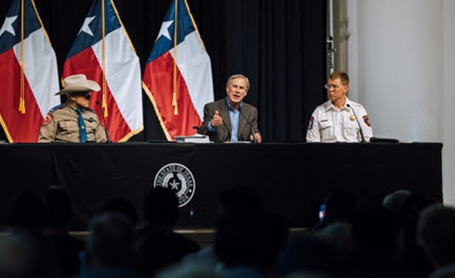 Gov. Greg Abbott speaks during Thursday's press conference in Del Rio. - TEXAS GOVERNOR'S OFFICE