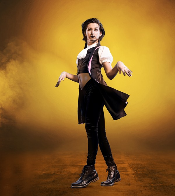 Dancer Antonio Padron donned a steampunk-inspired look for the House of Luxe's debut on Legendary. - HBO MAX