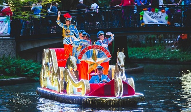 The Texas Cavaliers parade returns to the river on June 21. - COURTESY OF FIESTA SAN ANTONIO