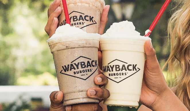 Locals can indulge in a free hand-dipped chocolate milkshake from Wayback Burgers next Monday. - INSTAGRAM / WAYBACKBURGERS