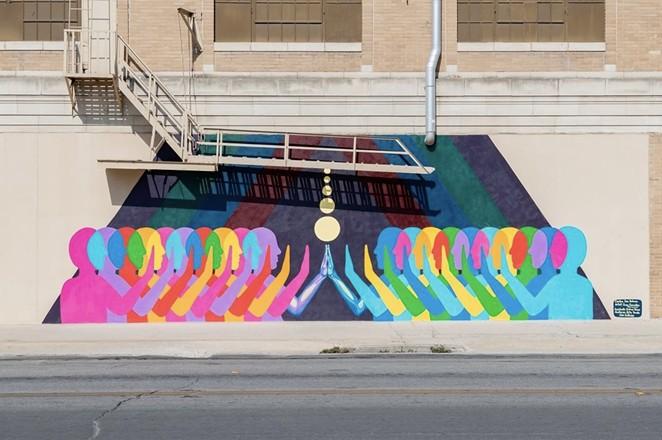 San Antonio artist Suzy González's Touch is part of Centro SA's Art Everywhere initiative. - INSTAGRAM / CENTROSANANTONIO