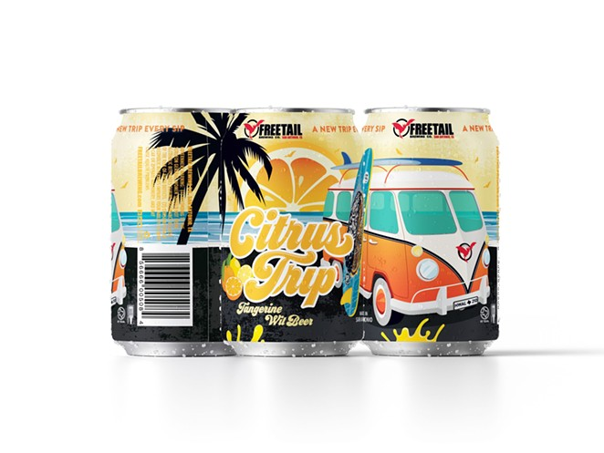 San Antonio's Freetail Brewing Co. was recognized for the can design of its Citrus Trip Belgian wit. - COURTESY PHOTO / CRAFT BEER MARKETING AWARDS