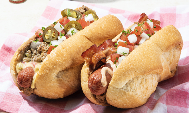 San Antonio-based Taco Cabana will offer two Sonoran hot dogs during Independence Day weekend. - PHOTO COURTESY TACO CABANA