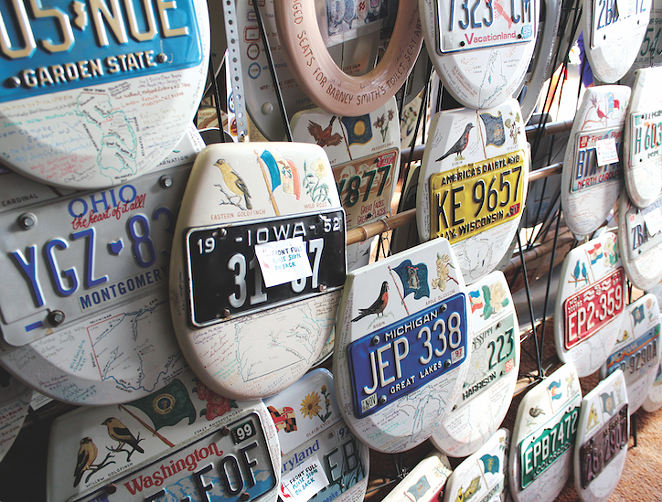 Barney Smith's Toilet Seat Art Museum - PHOTO BY CHERYL SCIAFANI