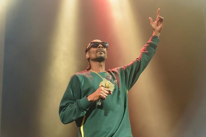 Snoop Dogg will post up at the Sunken Garden on Friday. - JAIME MONZON