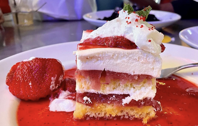A chef-inspired strawberry shortcake is one of Dave & Buster's new menu items. - INSTAGRAM / _BLOGIONISTA