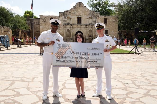 Elizabeth Flynn, of nearby Helotes, was awarded a $180,000 NROTC Scholarship. - BURRELL PARMER, NTAG SAN ANTONIO PUBILC AFFAIRS