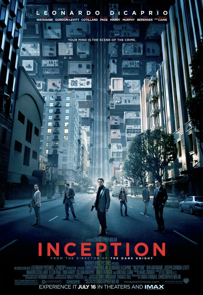 Inception was released in 2010. - WARNER HOME VIDEO