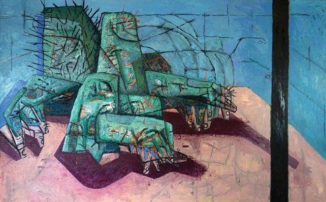 Guzman's painting Would you like it hot or cold. - KIKÉ SAN