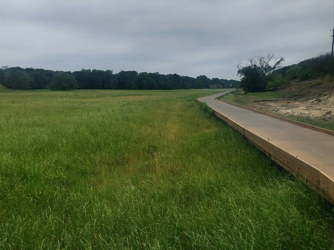 Morningstar Boardwalk, a raised walkway that's part of the greenway system, allows pedestrians to pass without trampling the native meadow below. - BILL BAIRD