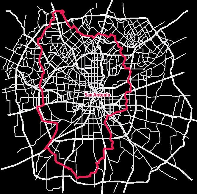 A map of Baird's trek circumnavigating the city. - SAM SERNA