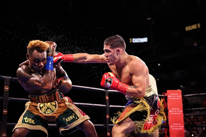 Brian Castaño controlled most of Saturday's fight with Jermell Charlo. - AMANDA WESTCOTT / SHOWTIME