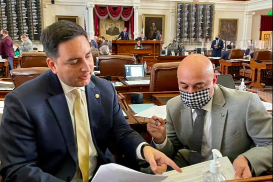 """State Rep. Philip Cortez (left) said he returned to Austin to negotiate in """"good faith"""" with Republicans on a controversial voting bill. - FACEBOOK / PHILIP A. CORTEZ"""