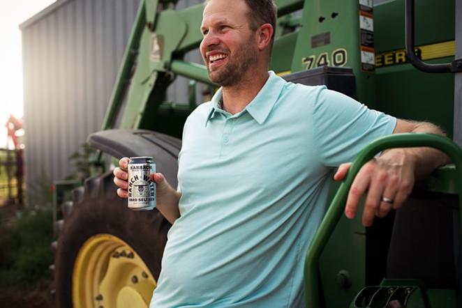 Farmer Jeff Peters - PHOTO COURTESY KARBACH BREWING CO.